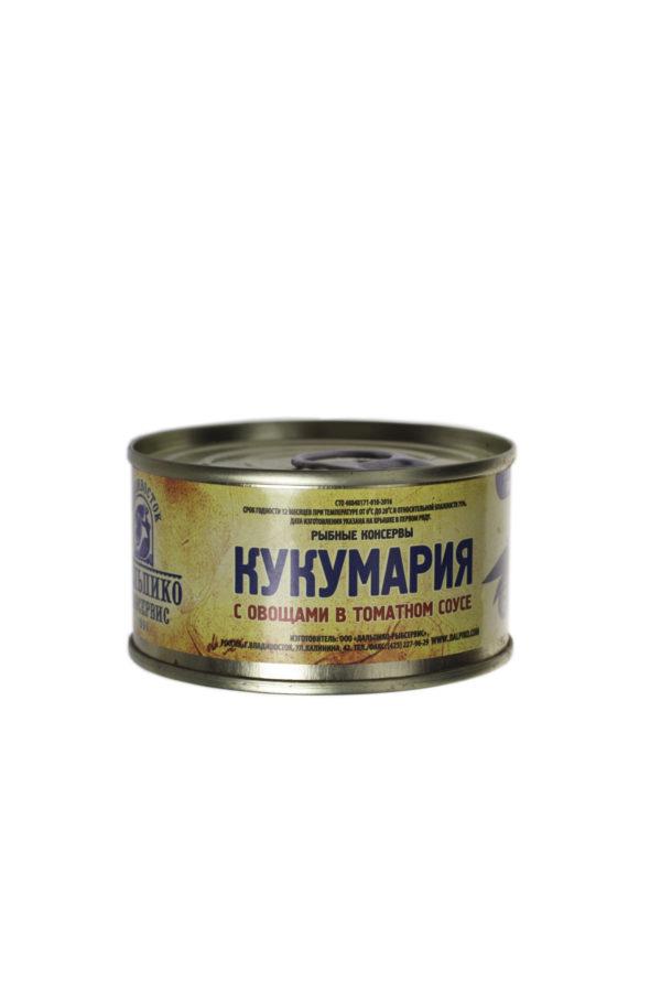 Консервы Кукумария с овощами в томатном соусе 130 гр.